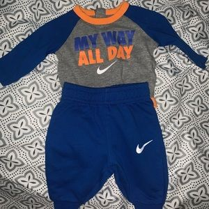 3 Month Nike ser pants and long sleeve onsie